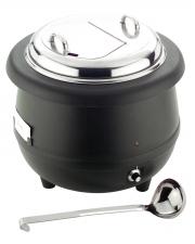 Elektrický ohřívač na polévku 10 L - nerez víko + naběračka